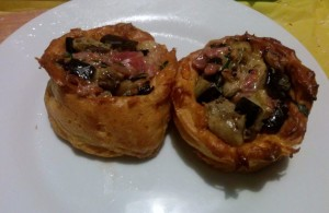 Aubergine & Proscuitto-Stuffed Gougere