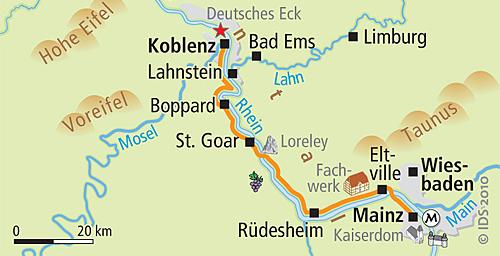 Rhein-Radkarte-Mainz-bis-Koblenz
